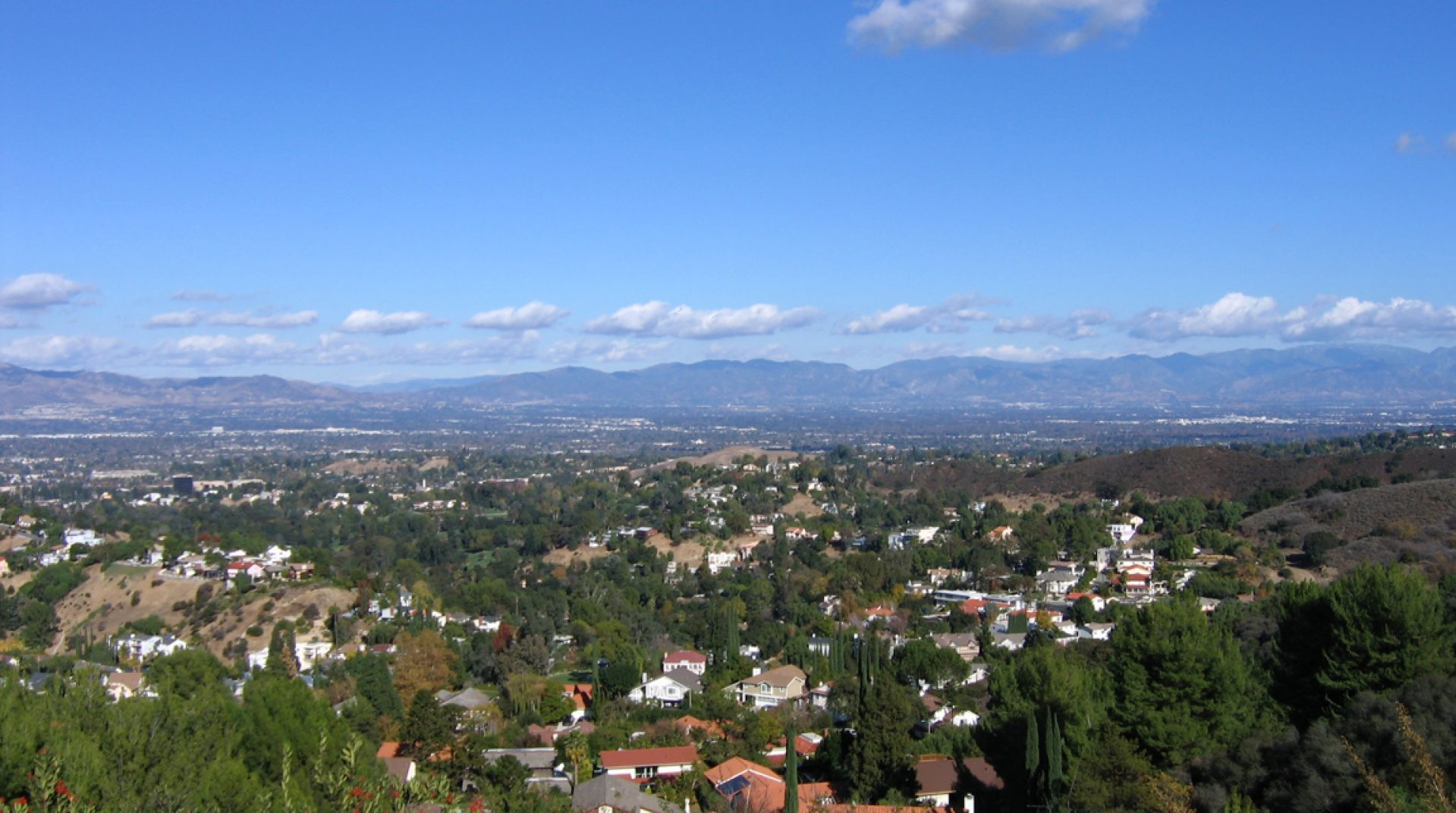 Aerial photo of community